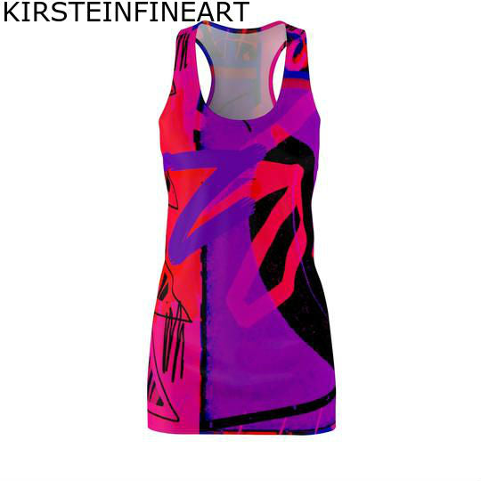 Third Eye Chakra Women's Cut & Sew Racerback Dress - Kirsteinfineart