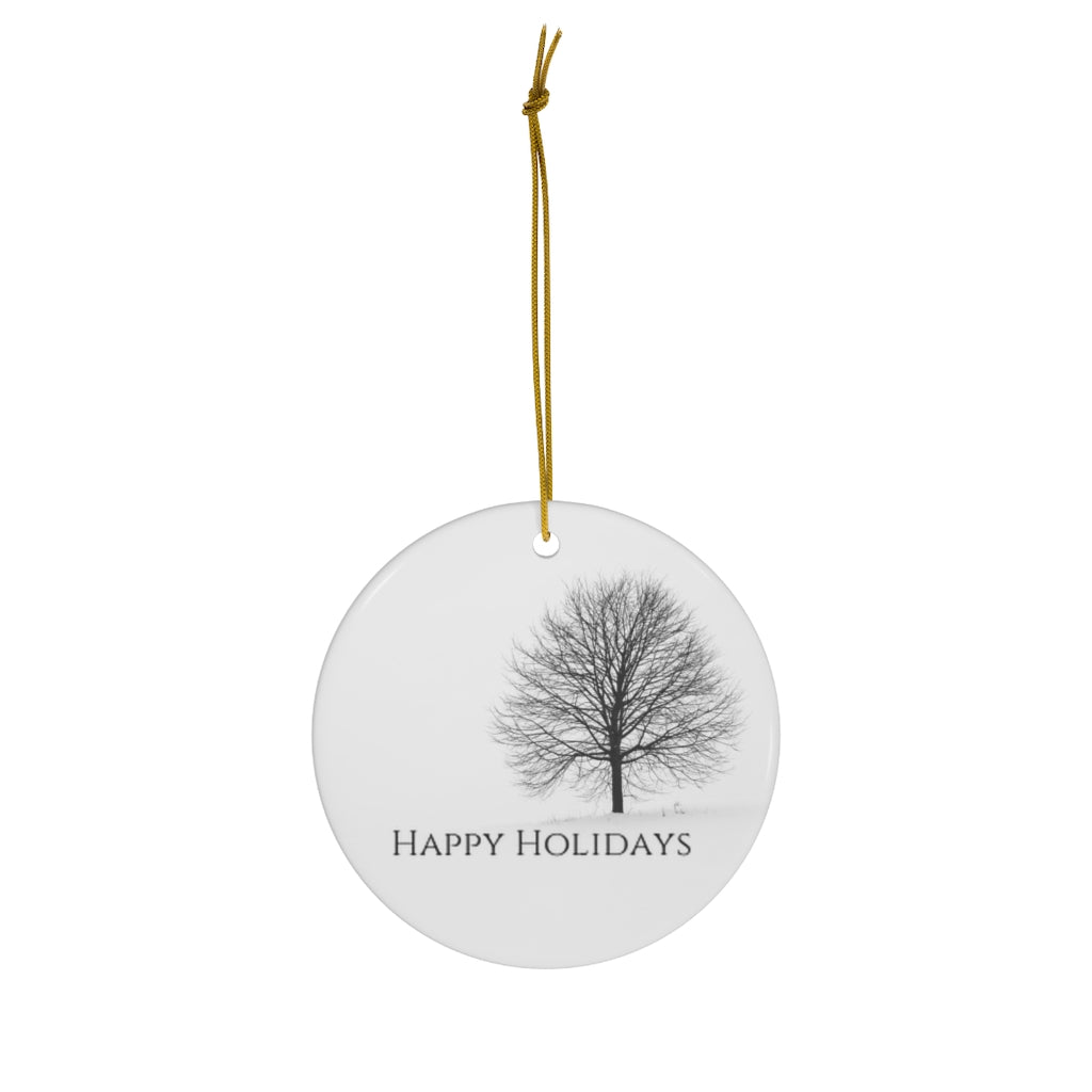 Happy Holidays Ceramic Ornaments