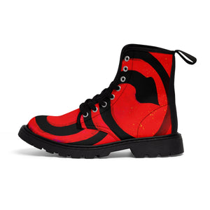 Root Chakra Women's Canvas Boots - Kirsteinfineart