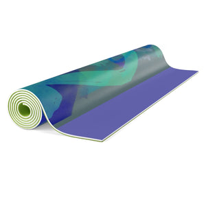 Throat Chakra Meditation Yoga mat - Kirsteinfineart