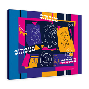 My Circus Buddies Canvas Gallery Wraps Pin and Purple - Kirsteinfineart