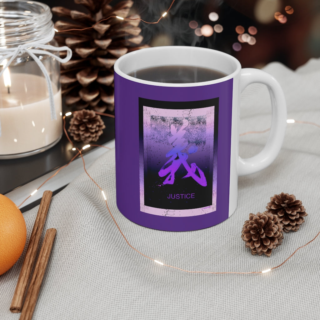 Justice in Purple Mug 11oz