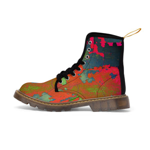 Planet Earth Women's  Canvas Boots - Kirsteinfineart