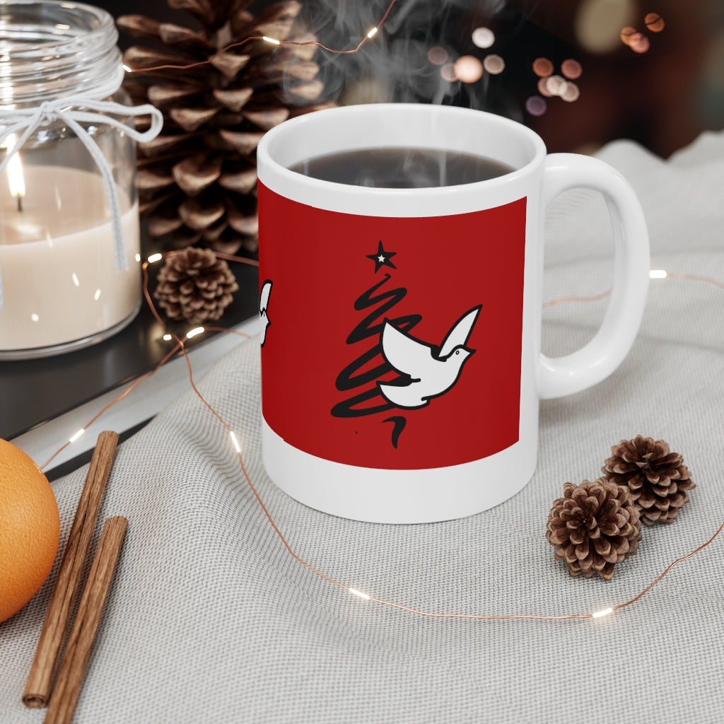 Peace Dove Tree Mug 11oz HOLIDAY SPECIAL ITEM