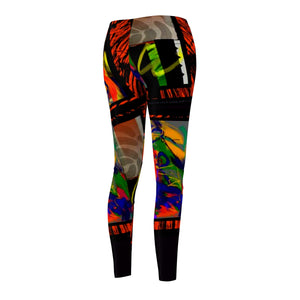 Jungle Jam Women's Cut & Sew Casual Leggings - Kirsteinfineart
