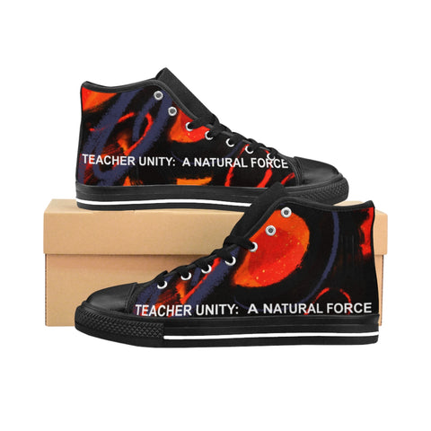 Teacher Unity: A Natural Force Women's High-top Sneakers