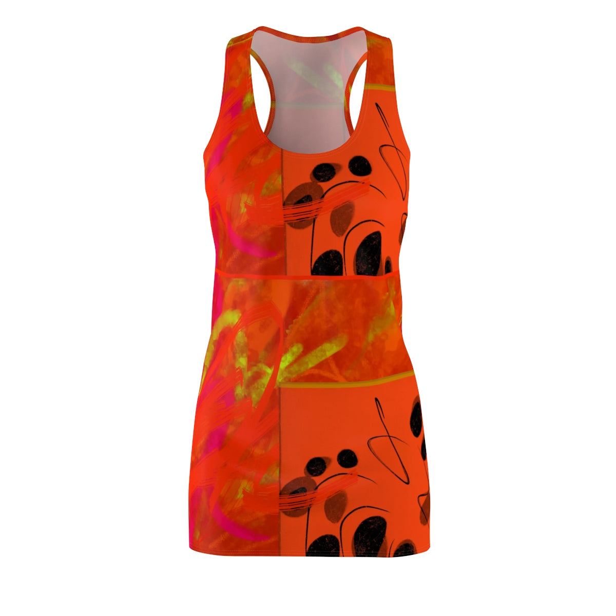 Sacral Chakra Women's Cut & Sew Racerback Dress - Kirsteinfineart