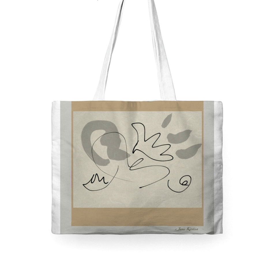Peace Dove Tote Bag Wide - Kirsteinfineart