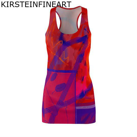 Root Chakra Women's Cut & Sew Racerback Dress - Kirsteinfineart