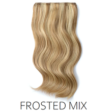 #12/613 brown blonde foiled highlight mix one piece clip in hair