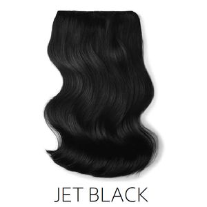 #1 jet black one piece clip in hair