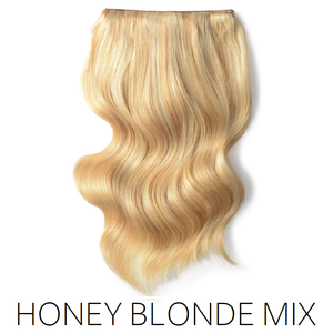 #27/613 blonde foiled highlight mix one piece clip in hair
