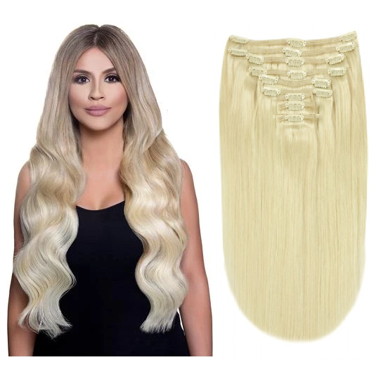 Thick Clip in Human Hair Extensions