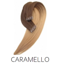 brown caramel ombre balayage tape hair extensions