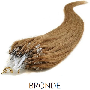 #12 Bronde light Brown  Easy Loop Micro Bead Hair Extensions