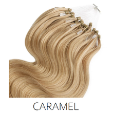 #16 Caramel blonde  Easy Loop Micro Bead Hair Extensions