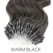 #1B Natural Black  Easy Loop Micro Bead Hair Extensions