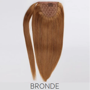 #12 Bronde Light Brown Human Hair Ponytail