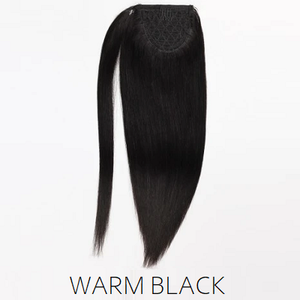 #1B natural black human hair ponytail