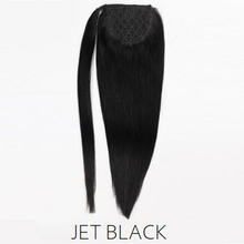 #1 jet black human hair ponytail