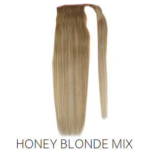 #27/613 #18/613 Blonde foiled highlight Mix Human Hair Ponytail