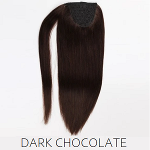 #2 Dark chocolate brown human hair ponytail