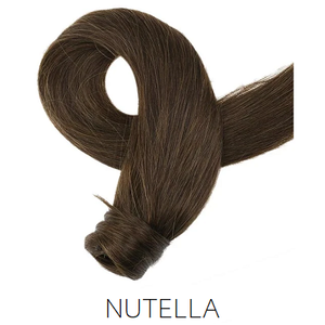 #4 medium brown human hair ponytail