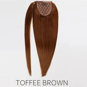 #8 Toffee Light Brown Human Hair Ponytail