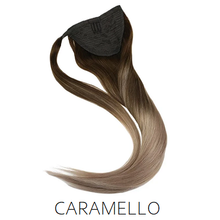 brown caramel blonde human hair ponytail