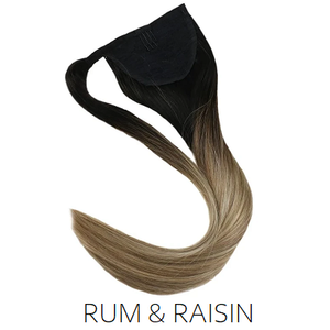 black brown ombre balayage ponytail