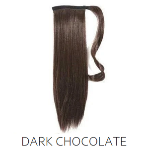 #2 Dark Chocolate Brown Synthetic Ponytail