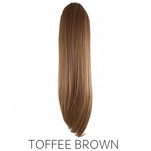 #8 Toffee Light Brown Synthetic Ponytail