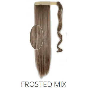 #12/613 Ash Brown Blonde Foiled Highlight Mix Synthetic Ponytail