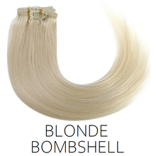 #60 Blonde Bombshell Clip in Human Hair Extensions