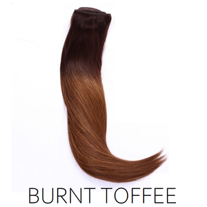 #2/8 Burnt Toffee Ombre Balayage Clip in Human Hair Extensions