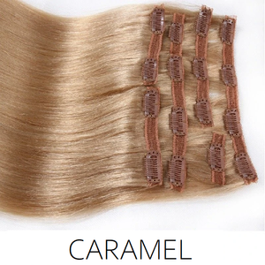 #16 Caramel Clip in Human Hair Extensions