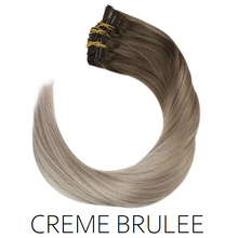 #8-18/613 Creme Brulee Ombre Balayage Clip in Human Hair Extensions