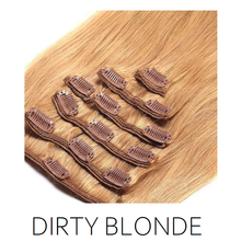 #27 Dirty Blonde Clip in Human Hair Extensions