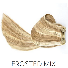 #12/613 Frosted Mix Clip in Human Hair Extensions