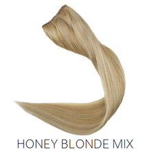 #27/613 Blonde Foiled Mix Halo Hair Extensions