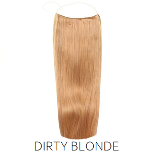 #27 Dirty Blonde Halo Hair Extensions