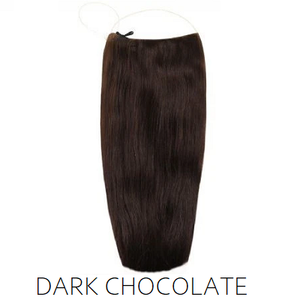 #2 Dark Chocolate Brown Halo Hair Extensions