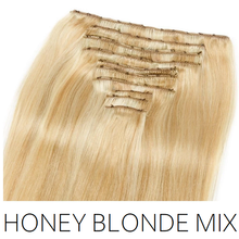 #27/613 Honey Blonde Mix Clip in Human Hair Extensions