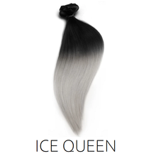 #1b/Silver Ice Queen Ombre Balayage Clip in Human Hair Extensions