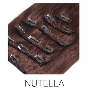 #4 Nutella Clip in Human Hair Extensions