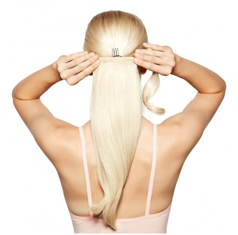 Synthetic Heat Resistant Ponytail Extension