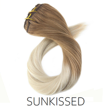 #6-22/60 Sunkissed Ombre Balayage Clip in Human Hair Extensions