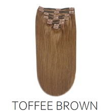 #8 Toffee Brown Clip in Human Hair Extensions