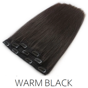 #1B Warm Black Clip in Human Hair Extensions