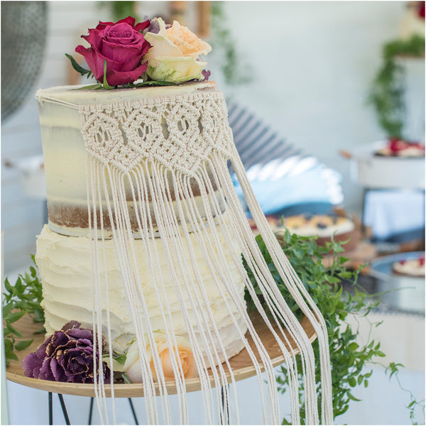 Macrame Wedding Cake Bunting